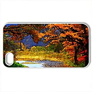 Autumn - Case Cover for iPhone 4 and 4s (Forests Series, Watercolor style, White) by icecream design