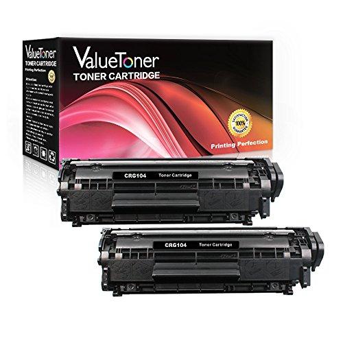 ValueToner Compatible for Canon 104 (0263B001) FX-9 FX-10 CRG-104 2 Black Toner Cartridge Replacement for Canon imageCLASS D420 D480 MF4150 MF4270 MF4350d MF4370dn MF4690 Faxphone L90 L120 Printer
