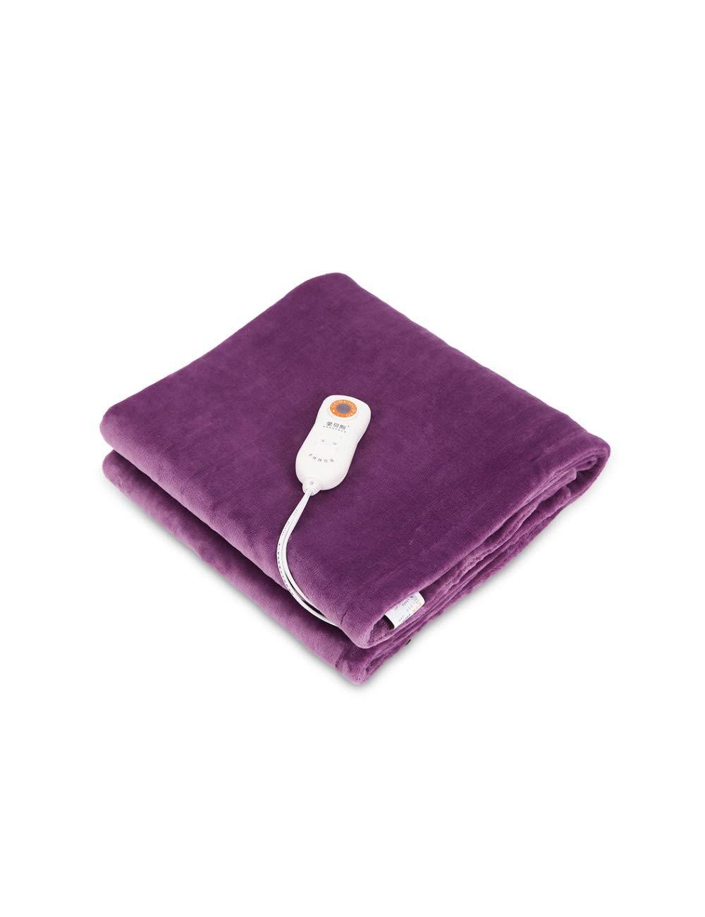 小さな多機能ウォームアップ電気毛布、シングルショールブランケット、軽い、9スピードの温度調整、安全で洗濯機で洗える、操作しやすい、マルチカラー、150 * 80センチメートル (色 : Purple, サイズ さいず : 150 * 80cm) B07JW8YD6Y Purple 150*80cm