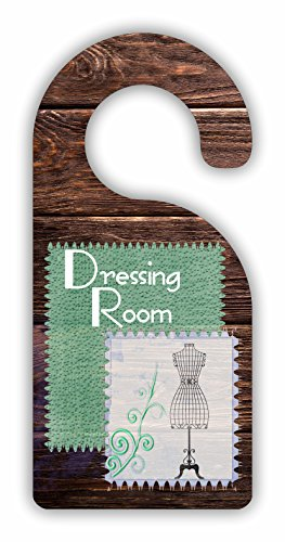 Dressing Room - Dressing/Closet Room Door Sign Hanger - Hardboard - Glossy Finish by Jacks Outlet