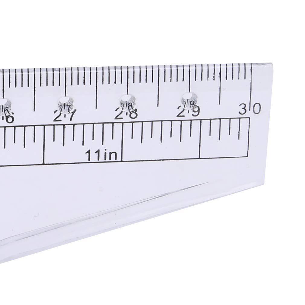 kemai Angle Ligne parall/èle R/ègle de roulement R/ègle en Plastique Souple