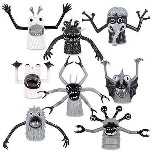 Accoutrements Black and White Finger Monsters Finger Monsters (Set of 8 in Each Order)