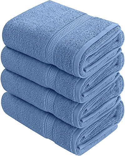 Utopia Towels 600 GSM Cotton Large Hand Towels (4 Pack, Wedgewood - 16 x 28 ()