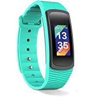 Redlemon Fitband Sport Bluetooth con Pantalla a Color, Resistente al Agua, Monitor de Ritmo Cardiaco, Medidor de Presión Arterial, Podómetro, Contador de Calorías y Distancia, Notificaciones de Mensajería, Redes Sociales y Llamadas, Compatible con Android y iOS