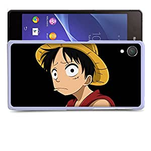 Case88 Designs One Piece Luffy Protective Snap-on Hard Back Case Cover for Sony Xperia Z2