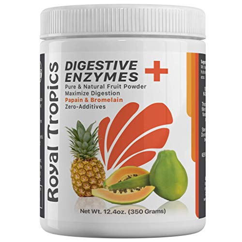 (Pineapple Bromelain Digestive Enzyme Supplements in Powder Form by Royal Tropics - Vegetarian Weight Loss Control Formula with Green Papaya and Papain Acid Reducer for Perfect Gut Health 350)