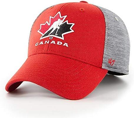 02c9afc09ff Amazon.com    47 Team Canada IIHF Verona Contender Stretch Fit Cap ...