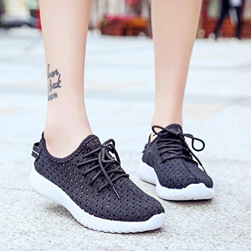 Black Canvas Soles Shoes Shoes Comfortable up Casual Mesh Shoes Running Autumn Outdoor Women Luoluoluo Lace Sports TCFqx