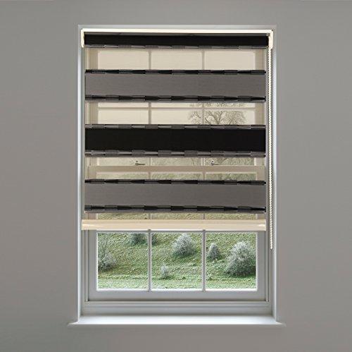 FromUSA Zebra Window Blinds Horizontal Shade Curtains