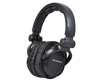 be112e1c0bf Image Unavailable. Image not available for. Color: Monoprice Premium Hi-Fi  DJ Style Over-The-Ear Pro Headphones ...