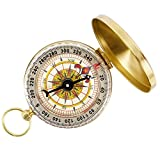 EchoAcc® Camping Hiking Portable Pocket Watch Flip-Open Compass Outdoor Navigation Tools - Gold