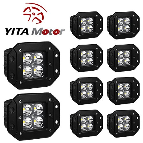 YITAMOTOR 10Pack Square Driving Offroad