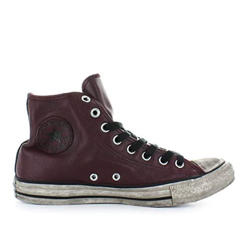 b6c6a290bcd189 Converse Men s Shoes All Star Burgundy Leather Sneaker Fall Winter 2019