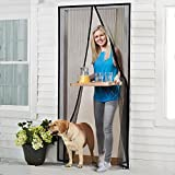 Kyпить Homitt Magnetic Screen Door with Heavy Duty Mesh Curtain and Full Frame Velcro Fits Door Size up to 36