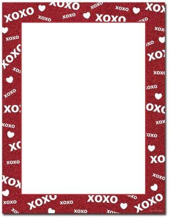 Image Shop ALH228 XOXO Sparkle Letterhead