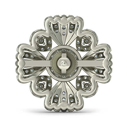 Or blanc 14 K 1,2 CT TW Round-cut-diamond (IJ | SI) et Boucles d'Oreille à tige Émeraude