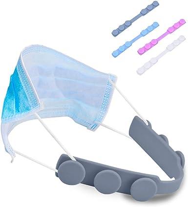 JIANXU Mask Hook Mask Extension Hook for Reducing Ear Pain Mask Extension Buckle Mask Hook Ear Cord Adjustment for Adult Children Anti-Slip Silicone Mask Strap Extender
