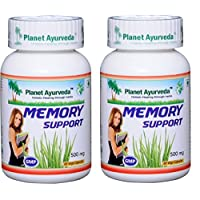 Memory Support - to Enhance Memory - 2 Bottles (Each 60 Capsules, 500mg) - Planet Ayurveda in USA