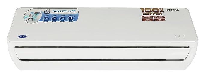 Carrier Superia Split AC (1 5 Ton, 3 Star Rating, White, Copper)
