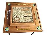 latinos r us Bahamas Domino Table With the map (Natural)