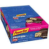 PowerBar Protein Plus Bar, Cookies & Cream, 2.15 oz Bar, pack of 15