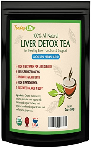 Liver Cleanse Detox Tea for Liver Repair with silymarin Milk Thistle Seed as Liver detoxifier & Regenerator, Dandelion Root Tea, Burdock Root - 85 GMS | USDA Organic