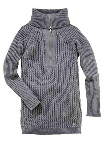 FLASHLIGHTS Damen-Pullover Long-Pullover Mini-Strickkleid grau Gr. 40/42