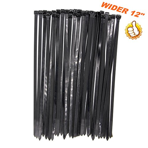 12 inch black cable ties - 2