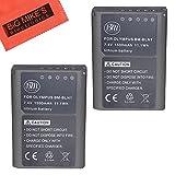 BM Premium 2-Pack Fully Decoded BLN1 Batteries for Olympus Pen F, OM-D E-M1, OM-D E-M5, OM-D E-M5 Mark II, OM-D E-P5 Digital SLR Camera