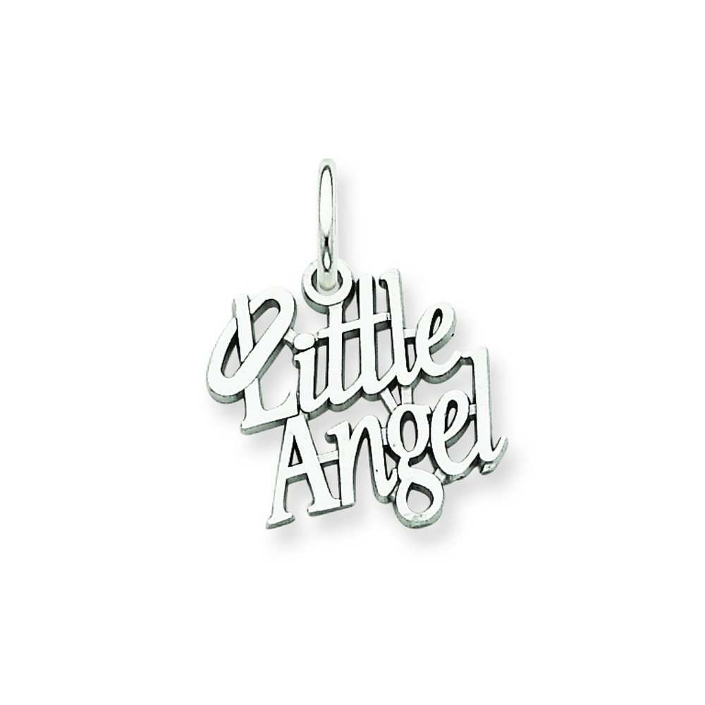 14k White Gold Little Angel Charm