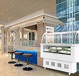 Commercial Ice Cream Refrigerator Gelato Showcase Freezer Refrigeration Machine 12 Pan By Garden at Home