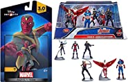 Marvel's The Avengers Figure Set + Disney Infinity Vision 3.0 Action Figure Captain America, Ant Man, Hawkeye, Wasp, Winter Soldier