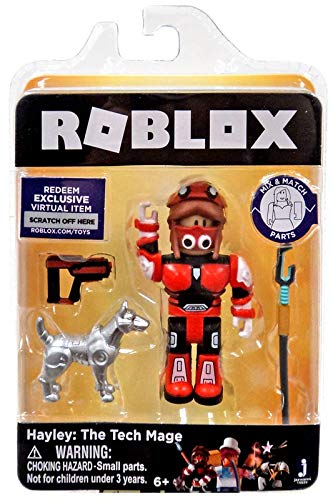 Roblox Gold Collection Hayley The Tech Mage Single Figure Pack with Exclusive Virtual Item Code Jazwares SG/_B07FVS5565/_US