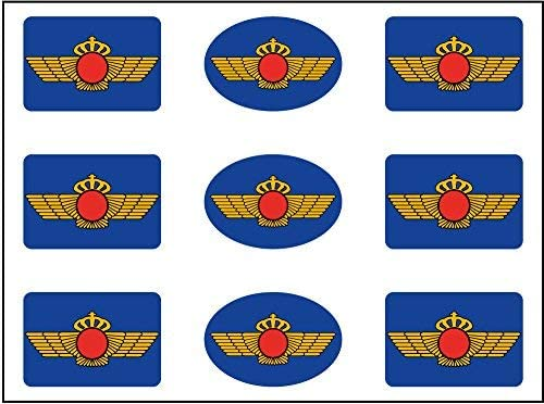 Artimagen Pegatinas Rectángulos Logotipo Ejército del Aire 9 uds ...