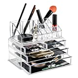 Best Cosmetics Organizers For Lipsticks - Felicite Home Makeup Cosmetic Organizer Conceal/Lipstick/Eyeshadow/Brushes in One Review