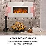KLARSTEIN-Belfort-Light-Fire-Camino-Elettrico-con-Effetto-Fiamma-Camino-Elettrico-1000-o-2000-W-Termostato-Timer-Illuminazione-Ambiente-Telecomando-Montaggio-a-Parete-Bianco