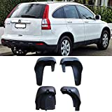 mud flap crv - VioGi New Set of 4 Matte Black Durable PP Bolt-On Flap Protect Front & Rear Mud Guards+Screws+Clamps For 12-16 Honda CR-V