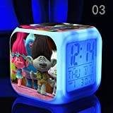 Enjoy Life : Cute Digital Multifunctional Alarm Clock With Glowing Led Lights and Trolls sticker, Good Gift For Your Kids, Comes With Bonuses (03)