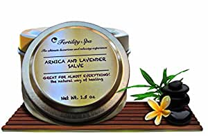 Fertility Spa - Organic Arnica and Lavender Cream Salve.1.5 Oz. Arnica montana 100% natural. Organic-environmentally friendly. Excellent for side effects of hormones, pains, bruises, swelling, rash.