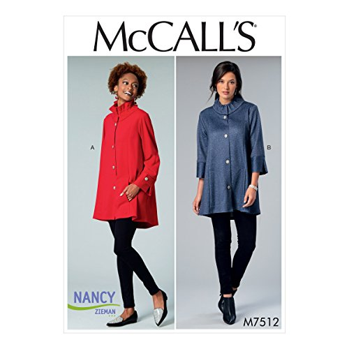 - MCCALLS M7512 Misses' Button-Front Jackets with Gathered Collar SEWING PATTERN