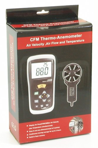 Ruby Electronics DT-619 Digital CFM CMM Thermometer Anemometer Vane Wind Velocity Air Flow Meter by Ruby Electronics