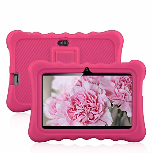 """7"""" Kids Tablet PC, Ainol Q88 Android 4.4 External 3G 8GB ROM 512MB RAM Tablet with Dual Camera WIFI USB Phablet (Pink)"""