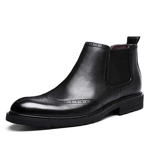 Zapatillas Bullock Negras para Hombre, Botines De Moda con Cabeza Redonda, Botas Martin De Tendencia Británica, Plataforma De Otoño E Invierno Botas para ...