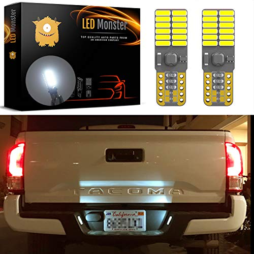LED Monster 2-Pack White 24-SMD LED Bulbs for License Plate Lights Car Interior Dome Map Door Courtesy Extremely Bright Compact Wedge T10 168 194 2826