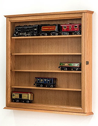 Lionel Train O Scale Display Cabinet- Model Trains- Oak
