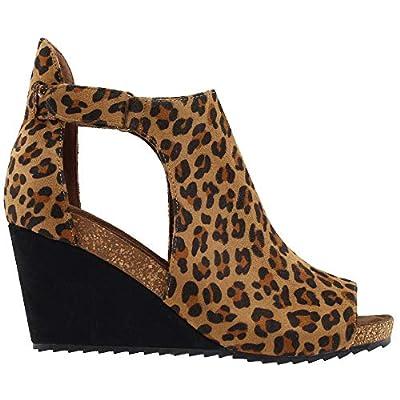 Corkys Footwear Womens Sunburst Leopard Wedge