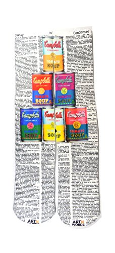 (Art N Wordz Campbell's Soup Cans Chunky-Condensed Dictionary Print Pop Art Unisex Socks)
