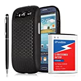 s3 battery case - iPosible Samsung Galaxy S3 Extended Battery [ 4700mAh] With Back Cover & Extended TPU Protective Case (Up to 240% Extra Battery Power) - 24 Month Warranty & 2in1 Stylus Pen Included