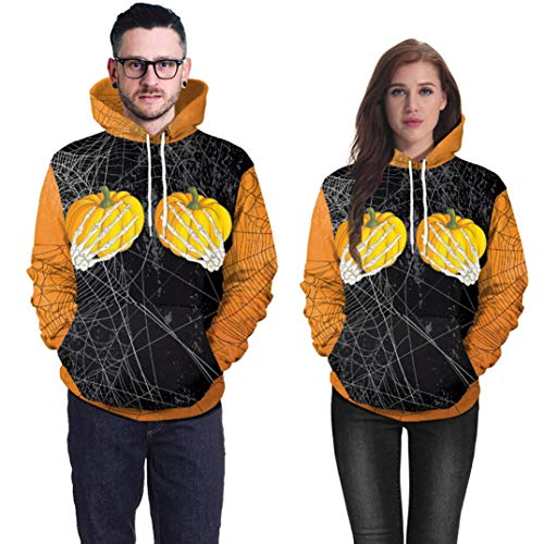 Clearance!! Women Halloween Pumpkin Print Tops GoodLock Party Long Sleeve Pullover Blouse Hoodie Sweatshirt (XX-Large, Black) by GoodLock