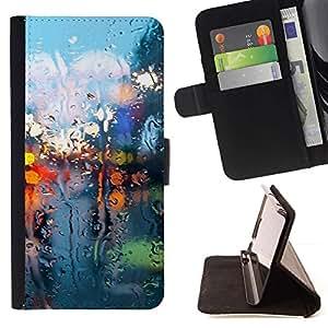 Momo Phone Case / Flip Funda de Cuero Case Cover - Seco Luces de cristal;;;;;;;; - HTC Desire 626